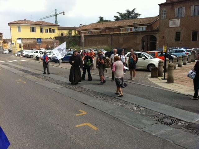 Arrivo a Piacenza, frati minori di Santa Maria di Campagna