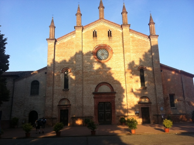 Arrivo dopo 42 km al convento accanto alla chesa della Ss. Annunziata di Cortemaggiore