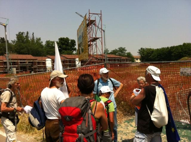 Paolo Ferloni e Giovanni ci mostrano i cantieri sotto sequestro a Pavia