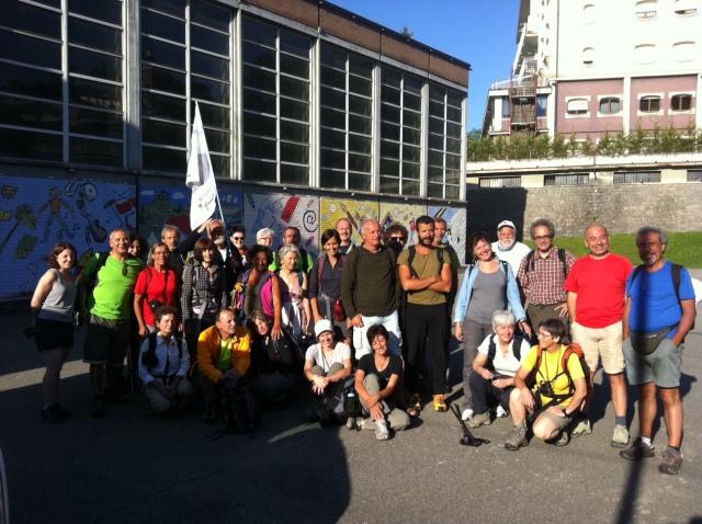 Partenza da Aosta: siamo sempre di più