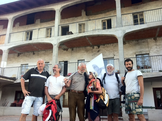 Prima della partenza a Borgofranco d'Ivrea